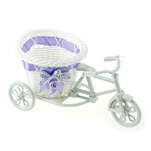 2020 Più nuovo Plastica Bianco Triciclo Bici Design Design Fiore Cestino Bicicletta Decorativa Fiore Canestro Decoraggio Party Decorazione Pentole hyindoor vaso