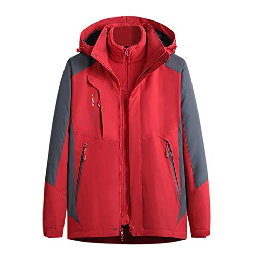 Save %67 Now! CapsA Jacket Women's Waterproof Raincoats Windbreaker Thick Winter Warm Hoodie Detacha...