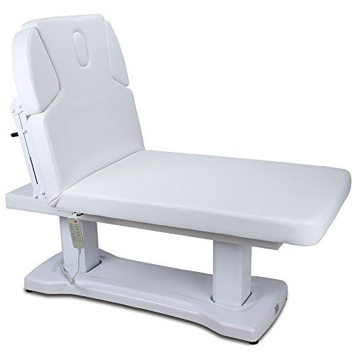 Elektrische Massageliege 003818H mit Heizung Weiß Salon Spa Behandlungsliege Wellnessliege