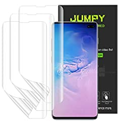 ★ Notice ★: Include 3 PCS Flexible Film Screen Protector, Specifically designed for Samsung Galaxy S10 Plus. [HD Clear] [High Definition] 99.99% transparency preserves the brightness of the original screen. [Anti-Scratch] [Anti Oil] An added oleophob...