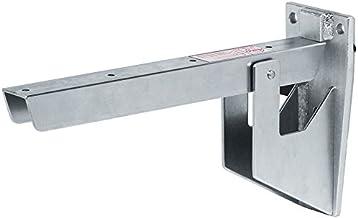 Gedotec Metalen klapdrager grijs klapconsole inklapbaar zitbankconsole - H7783 | diepte 388 mm | 500 kg draagkracht | zwar...
