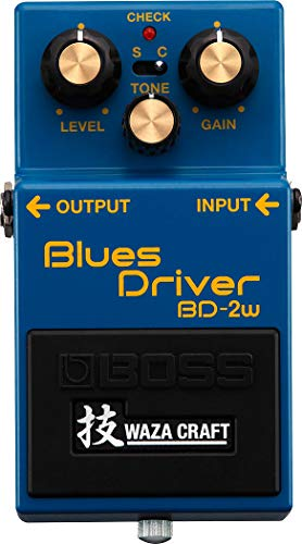 BOSS WAZA Craft Blues Driver Guitar Pedal (BD-2W), with Standard and Custom Sound Modes