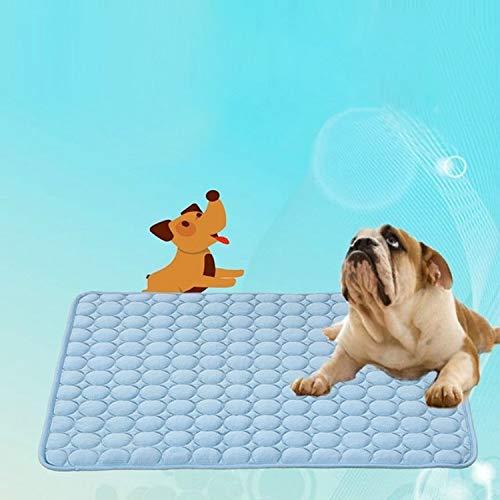Ysswjzz Hondenkoeling Mat Cool Niet-giftige ijszijde for uw mensen Kat en huisdieren, Puppy Zelfkoelende kussens Slaapbank in de zomer, Ideaal for thuis en reizen en auto's Extra groot, L