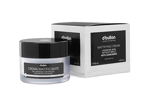 D´Bullón Crema facial Matificante para Pieles Grasas, Piel Hidratada y Sin Brillos con Protección Solar - 50 ml (10552)