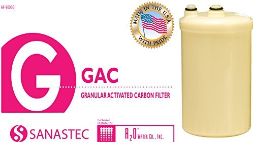 A2O WATER - MADE IN USA, Granular Activated Carbon Replacement Alkaline Water Filter for SD501, DX II, Toyo and Impart (HG Type) Original Price $75