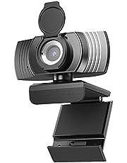 【2021最新版 500万画素 マイク進級】Webカメラ マイク内蔵 ノイズキャンセリング機能 ウェブカメラ 高画質 2K解像度 30FPS 120°広角 小型 会議 自動光補正 在宅勤務 授業 ビデオ通話用 ノートパソコン対応