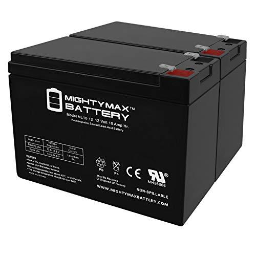 12V 10Ah New Battery for EZIP Scooter 4.0, 400, 450, 500-2 Pack
