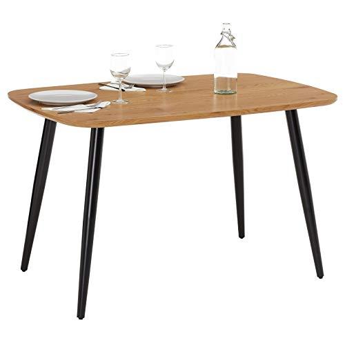 IDIMEX Esstisch Zagreb 120x80 Tisch Esszimmertisch Küchentisch Tischplatte MDF in Eiche Dekor