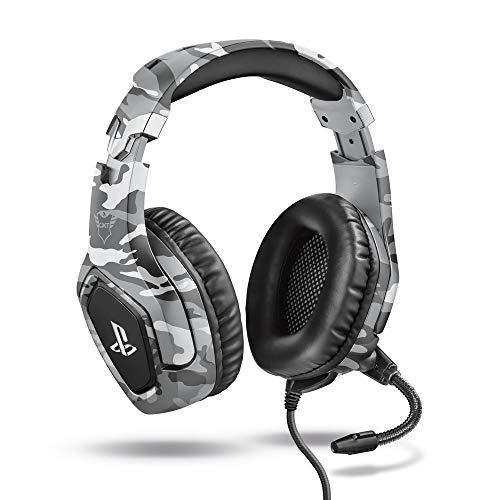 Trust Gaming GXT 488 Forze-G Gaming Headset für PlayStation 4 (klappbarem Mikrofon und einstellbarem Kopfbügel) grau
