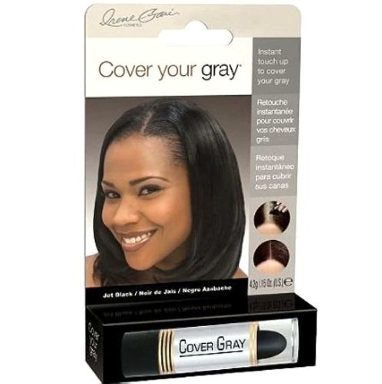 時間とともに浮くパスタCover Your Gray Instant Touch Up Stick JET BLACK by creme gari cosmetics