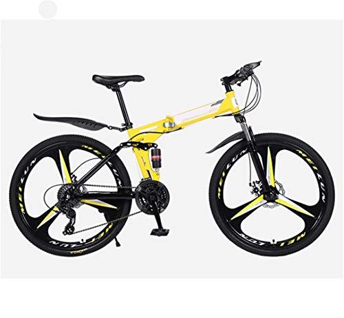 Mountain Bike Shock Absorption Bicycle 26 Inch 21 Speed Folding Student Bike Adult Bicycle Folding Mountain Bike (Size : 26 inch 24 Speed)