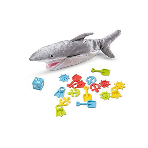 Melissa & Doug Shark Bait Game With Zippered Plush Shark (Great Gift for Girls and Boys for Family Board Game Night - Best for 3 4 5 6 7 Year Olds and Up)