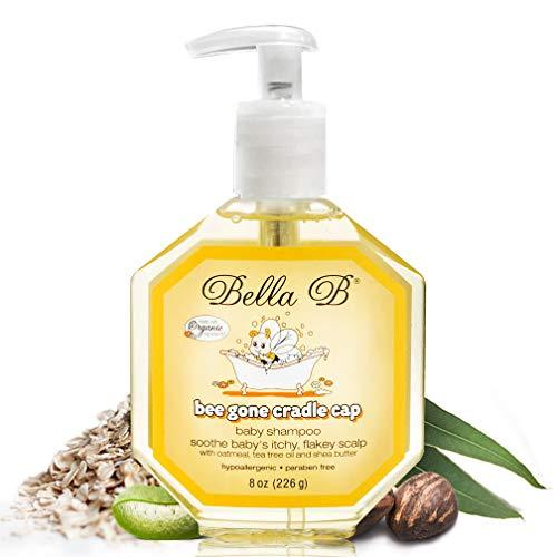 BELLA B NATURALS Bee Gone Cradle Cap Baby Shampoo 8 oz - Natural Baby Shampoo - Dry Scalp Shampoo -...