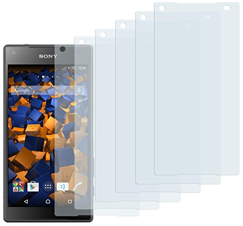 mumbi Schutzfolie kompatibel mit Sony Xperia Z5 Compact Folie klar, Bildschirmschutzfolie (6X)