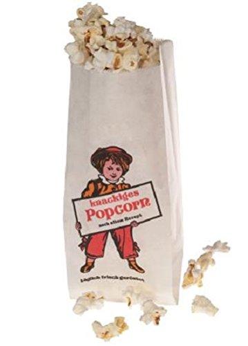 Popcorntüten Lausbub Motiv 10 - 1000 Stück Popcorn Beutel Neu Top Angebot 1 Liter 100 % recyclebar ca 35 Gramm (100)