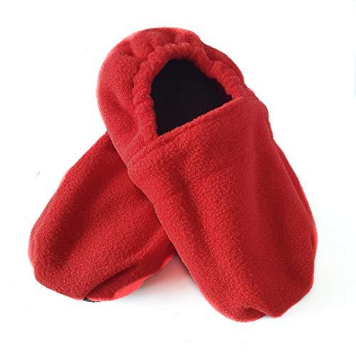 Zapatillas Térmicas Rojas para Adulto 36-42. Zapatillas calentables en microondas.