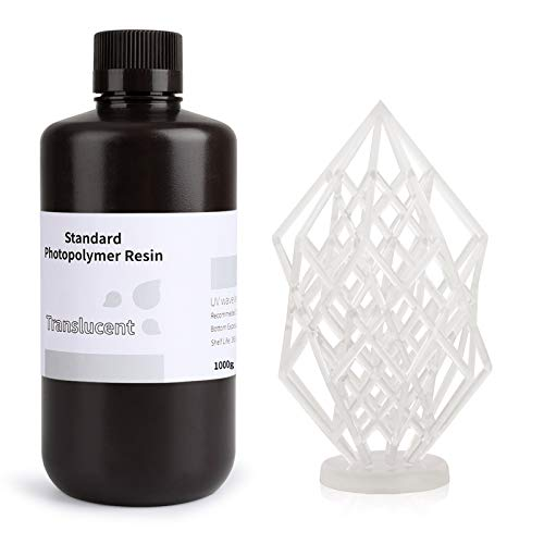ELEGOO Stampante 3D Resina veloce LCD 405nm Resina fotopolimerizzante UV Resina fotopolimerica standard per stampa 3D LCD Traslucido 1000g