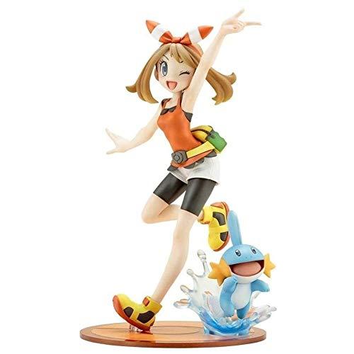 Pokemon anime azione figure da collezione modello personaggio statua in PVC figure giocattoli ornamenti desktop (Color : May And Mudkip)