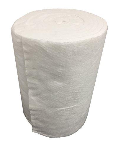Isolamento Fibra Ceramica, Rotolo 7,30 MT x 61 CM Spessore 25 MM Densità 96 KG/M3