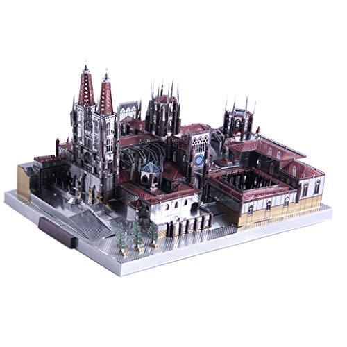 B Blesiya Juguete de Rompecabezas 3D Bloques de Construcción de Arquitectura Famoso Mudial en Miniatura Juego Creativo para Niños - Catedral de Burgos(229pcs,19x14x10cm)