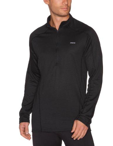 Patagonia Men's Capilene 3 Midweight Zip Neck (Medium, Black)
