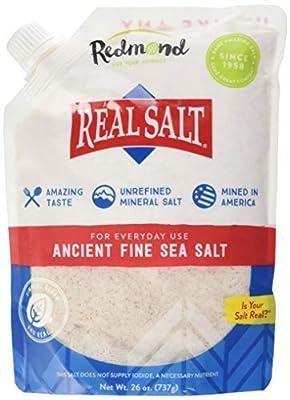 Redmond Real Salt - Ancient Fine Sea Salt, Unrefined Mineral Salt, 26 Ounce Pouch