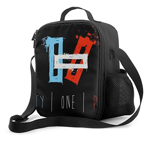 Portable Insulated Lunch Bag 21 Blurryface Pilots Lunch Box Cooler Tote Bag Lunch Sack