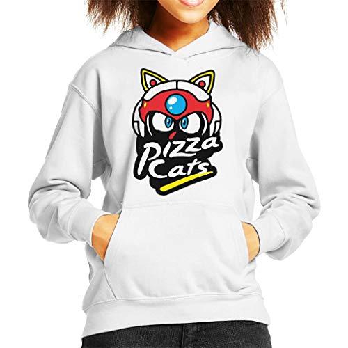 Cloud City 7 Samurai Pizza Cats Pizza Hut Logo Kid's Hooded Sweatshirt