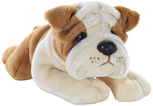Plush & Company Ringhio Bulldog Steso L40 Cm Cane Peluches Giocattolo 842, Multicolore, 8029956059261