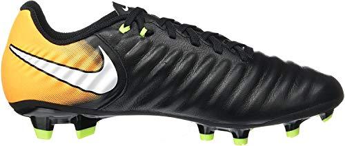 Nike Herren Tiempo Ligera IV FG 897744 008 Fußballschuhe, Schwarz (Black/White-Laser Orange-Volt), 41 EU
