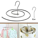 Clothes Drying Rack, RELIGES Removable Stainless Steel Spiral Drying Rack(2-Pack), Space-Saving Organizer for Quen Size Coverlet, Clothing and etc