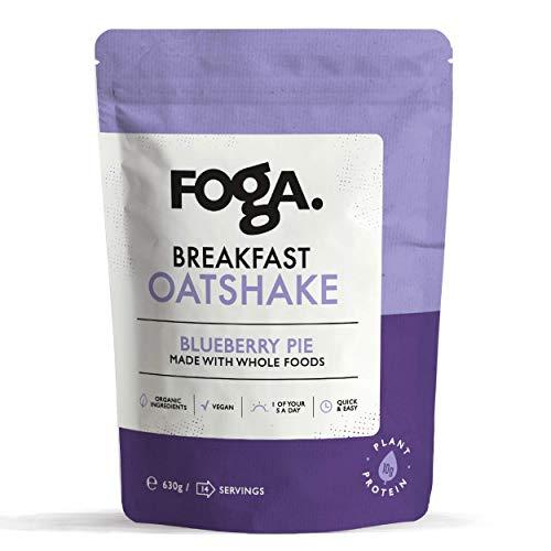 FOGA Breakfast Oatshake | Blueberry Pie | Vegan Protein | Meal Replacement Shake | 14 Servings