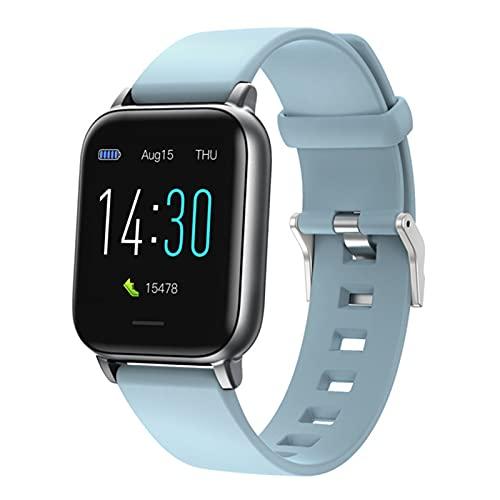 JXFF S50 Smart Watch Bluetooth Monitor de sueño Recordatorio de mensajes de 170 mAh Batería de 1,3 pulgadas HD pantalla táctil IP68 impermeable pulsera inteligente para Android iOS, B