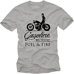 Camiseta Anarchy - Vintage T-Shirt de Motos - Regalos Originales Hombre