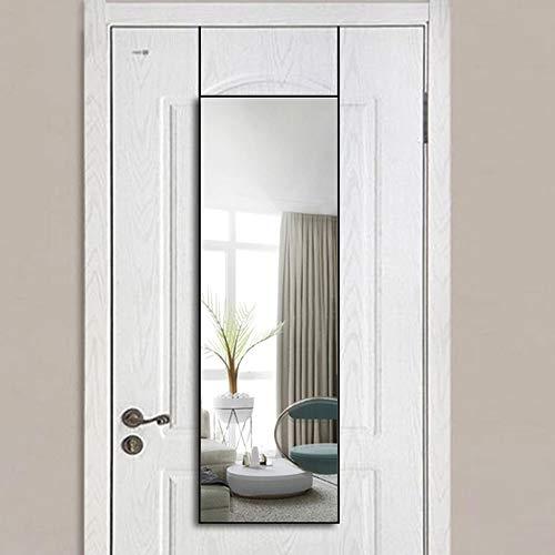 WONSTART Specchio a figura intera Specchio quadrato da lungo tempo Specchio da pavimento per camera da letto Specchio da toeletta Specchio a parete con cornice in alluminio (106 cm * 35 cm, nero)