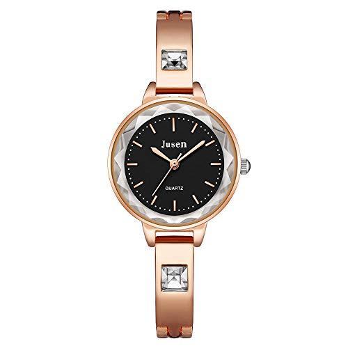 Las señoras de la Moda Miran el Reloj Femenino de la Pulsera del Estudiante del Diamante el Temperamento de Alta Gama Diamante del Agua Pulsera británica Reloj de Las señoras