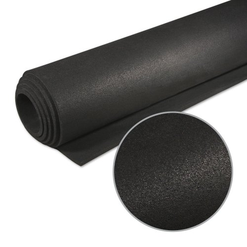 TRANR Active Noise Reduction Equipment Mats 36 x 78 6.4mm Solid Black