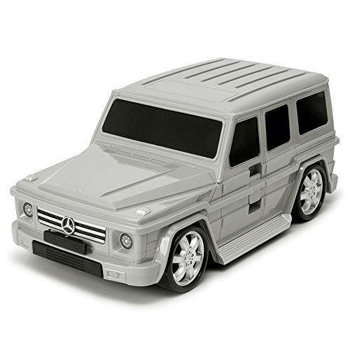 Grey Mercedes Benz G Class Hand Luggage Suit Case for Kids with Wheels G Wagon G63 AMG