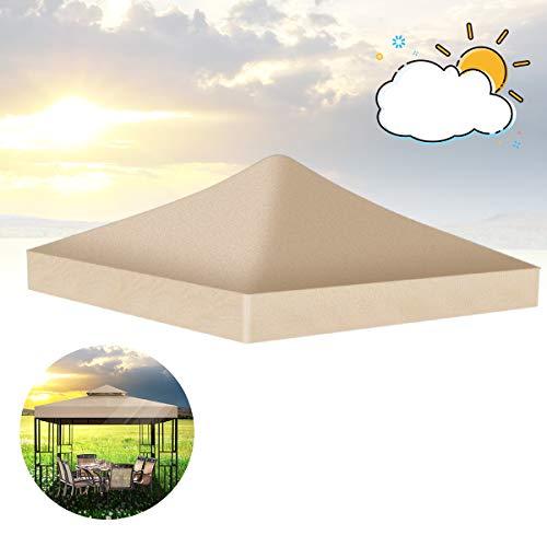 Qdreclod 3 * 3m Ersatzdach für Pavillon, Draussen Garten Terrasse Wasserdicht Sonnenschutz Überdachung