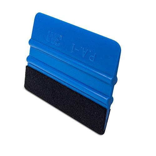 3M Rakel mit Filzkante,Folienrakel/Filzrakel aus Kunststoff als Werkzeug für Folierung von: Autofolie, Möbelfolie, Fensterfolie, Tönungsfolie, Wantatto´s,Plotter- &Klebefolie u.v.m! (1)