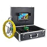 HBHYQ Sistema de cámaras de 9 Pulgadas DVR de 17 mm Industrial alcantarilla de la Pipa de Inspección de vídeo IP68 Impermeable cámara con 1000 líneas de TV 8pcs Enciende la Tarjeta SD de 8 GB LED,50m