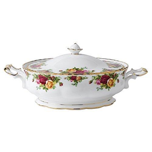Royal Albert Royal Albert Old Country Roses - Plato para verduras (55 onzas)