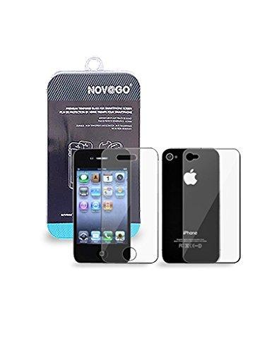 NOVAGO Pellicola Proteggi-schermo in Vetro Temperato per iPhone 4 / 4S ( Protezione Anteriore e Posteriore )