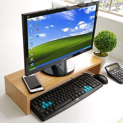 ADSIKOOJF Houten Desktop Monitor Stand Riser Houder Toetsenbord Basis Opslag Rack Kleine Boekenplank Verdikte Board Laptop Stand Plank