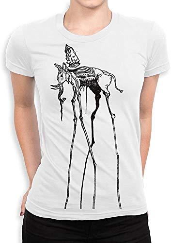 CheChenDengH Lässiger Kurzarm Salvador Dali Space Elephant T-Shirt