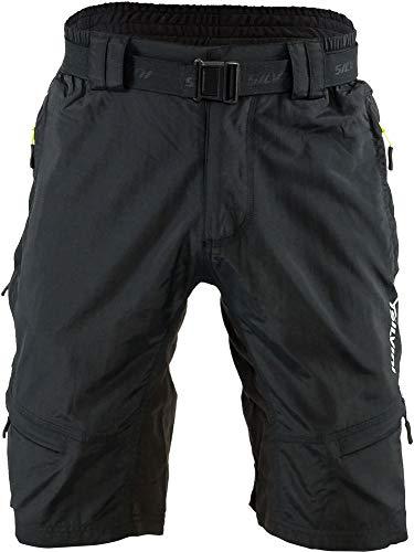 SILVINI Radhose Herren Rango mit 6 Taschen für Radfahren und Andere Outdoor-Aktivitäten Schwarz/Limette - XL