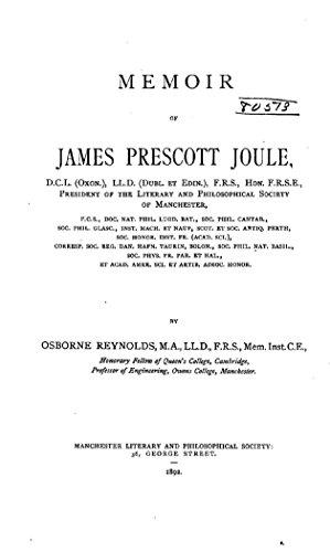 Memoir of James Prescott Joule (English Edition)