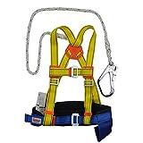 WYX Klettersicherheitsgurt Luftarbeitsschutzgurt Outdoor Construction Safety Seil-Sicherungsgurt für Bergsteigen, Abseilen, Sportklettern