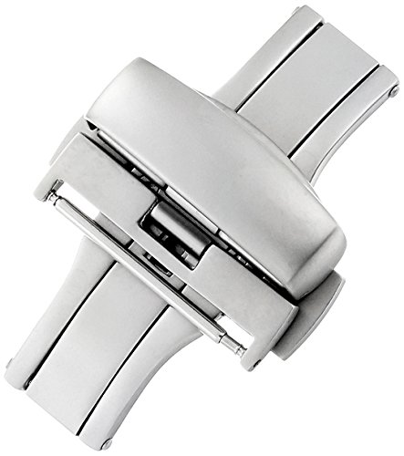 Hadley-Roma 22mm Stainless Steel Push Button Deployant Clasp