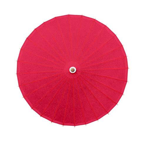 Black Temptation Accessoires de Parasol en Papier Faits à la Main de Parapluie de Papier d'huile de Couleur Pure, H02